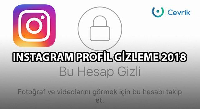 Instagram Profil Gizleme 2020