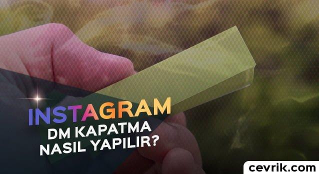 Instagram DM Kapatma