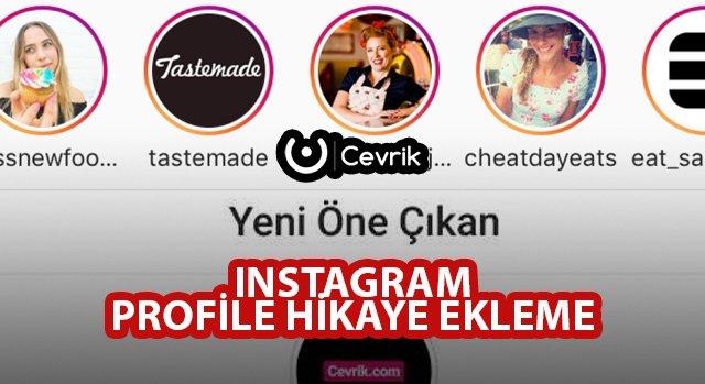 Instagram Profile Hikaye Ekleme