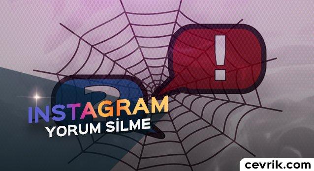Instagram Yorum Silme İşlemi