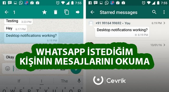 WhatsApp İstediğim Kişinin Mesajlarını Okuma
