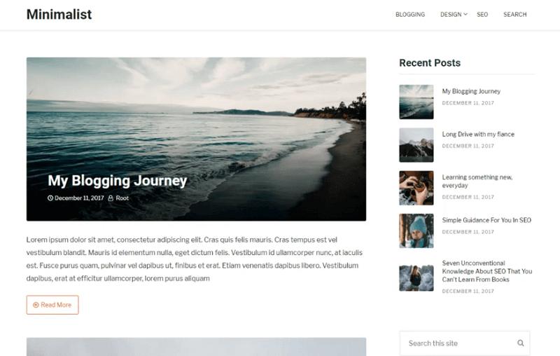 WordPress Kişisel Blog Temaları – Ücretsiz ve Sade Görünüm